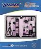 wowen tool bag with 18pcs pink tool bag