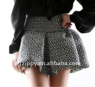 2012 newest Europe jacquard drape fleabane skirts