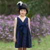2012 noble royalblue sleeveless 100% cotton evening party dress