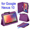 For Google Nexus 10 Litchi Pattern Stand Leather Wallet Case With Holder And Pen bulk buy