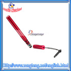 Capacitance screen Stylus Pen for iPhone / For iPod / for iPad Rose Red
