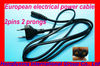New Arrival CE certificate Europe 2 pin ac power cord plug