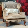 American style antique fabric 1-seat sofa OMJ-ED098