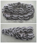 Lace pattern acrylic Knitted hair ribbons