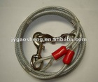 clear color Tie-out cable