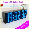 Hot sales led wall clock large led wall digital clock home decorative time display watch.