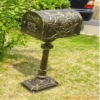 cast aluminium mailbox with post