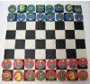 eva foam checkers and chess game set