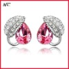 Free shipping new design with crystal Mt12072005 girls earrings
