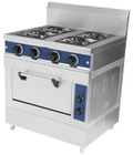 4 Burner Gas Range with Electric Oven