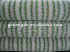 polyamide paint roller fabric white with double green stripe