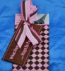 fabric and art paper luggage tags