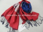 Men handsome and stylish three-color scarf