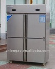 four door stainless steel kitchen refrigerator