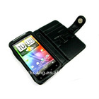 genuine leather case for HTC Sentation 4G horizontal type with magnet utton