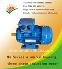 MS series three-phase aluminum housing induction motor
