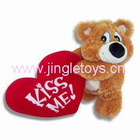Plush Toy - Valentine Plush Bear Toy Holding Red Heart
