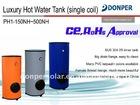 hot water tank with PVC tarp