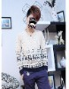 Wholes sales pullover sweater for men 2012 fashion clothes long sleeve contrast animal printed casual 2 colors M-XXL