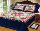 060 blue 4pcs blanket bedcover set