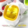 white+orange Jelly Watch