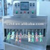 Automatic plastic pouch filling and sealing paking machine for liquid cloth clear