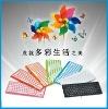 Scissor structure key slim mini colorful keyboard