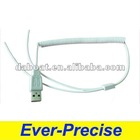 USB AM retractable coiled spring Cable