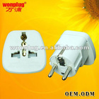Universal to europe plug adaptor with safety shutter