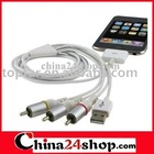 AV Cable with USB for ipod & ipod nano & ipod classic & ipod touch & iphone&iphone 3G