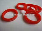 Silicone Red Round Finger Ring