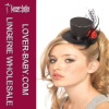 Elegant black mini top hat accessory