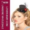 Elegant black mini top hat accessory