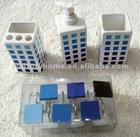 ceramic soap dispenser/toothbrush holder/tumbler/soap dish bathroom accessories set