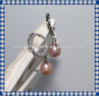 2012 8mm drop AA fancy imitation earrings design