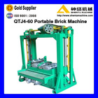 good quality low investment QTJ4-60 manual block brick machine