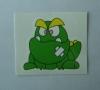 Lovely frog design tattoon sticker