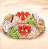 newest fashion beautiful heart design 3+1 bracelet