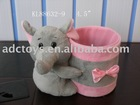 2012 new design plush elephant pen container toy