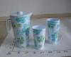 PLASTIC WATER JUG SET WITH4PCS CUPS &1POT,DIA13.5*9.5CM