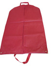 Red nonwoven cheap garment bags with 2pcs handles