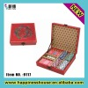 Antique Leather Playing Card Set Box