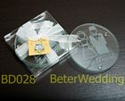 Bride and Groom glass Wedding gift BD028@Shanghai Beter Gifts Co Ltd, http://www.BeterWedding.com