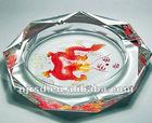 clear glass engraved ashtray crystal cigar ash pan