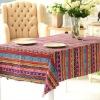 140*180cm Cotton/Linen Northern European plaid banquet Table Cloth