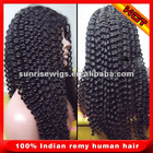 """12""""-24"""" length,1#,2#,1b#.4# color in stock cheaper top quality indian Remy human hair full lace wig with bangs for black women"""