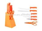 5 pcs color handle knife set