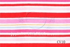 Colored stripped velvet