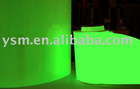 glow green light photo-luminescent film in the darkness