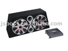"10""/12""Amplifier 10"" Bass Triangle sub woofer Tube car speaker box"